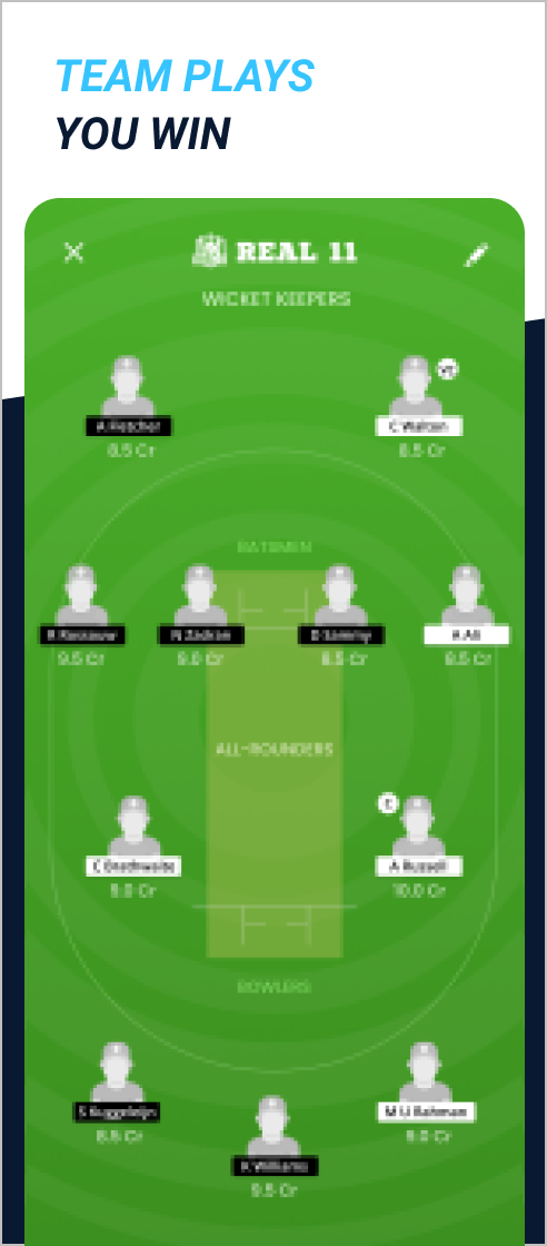 Download India's fastest-growing fantasy cricket app – Real11.